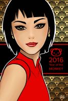 2016 Year Of The Monkey by jaleh