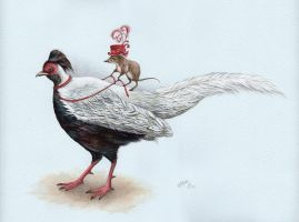 Lady Shrew and Her Silver Pheasant by IreneShpak