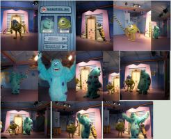 WDW Characters: Monsters Inc by wilterdrose-stock