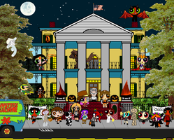 Halloween at the Mayor's house by Dynamoe