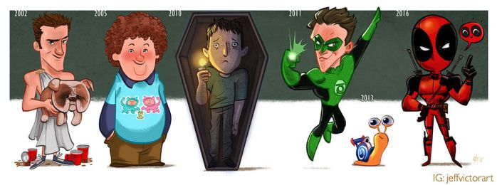 The Evolution of Ryan Reynolds by JeffVictor