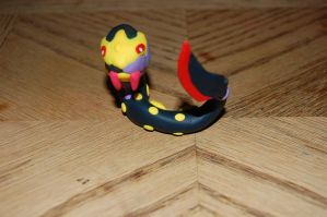 Seviper Sculpture -FOR SALE- by Flaming-Dinosaur