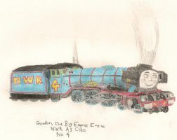Gordon the NWR Express Enigne by RiverStationStudios