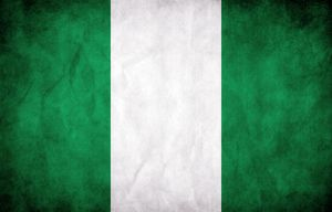 Nigeria Grunge Flag by think0
