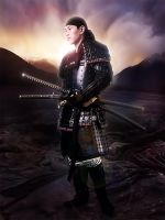 Portrait of a Samurai by FictionChick