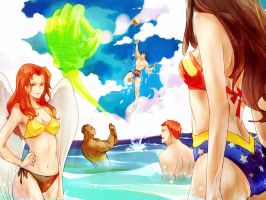 JLA_summer holiday by FLAFLY