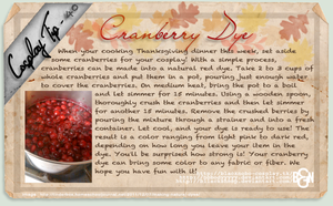 Cosplay Tip 40 - Cranberry Dye by Bllacksheep