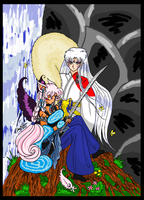 Sesshikya and Sesshomaru Colored by bluebellangel19smj