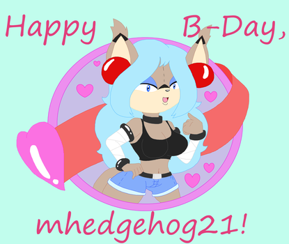 B-Day Gift 2017: mhedgehog21 by CottonCatTailToony