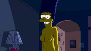Marge Simpson nude by Mauromatamoros