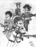 Sgt Pepper Beatles Cartoon by SilvaSketcher