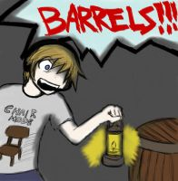 Pewdiepie Fanart: Pewdie sees barrels... by Shadow-chan15
