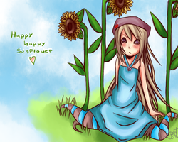 Happy Happy Sunflower by CremeOfRolo