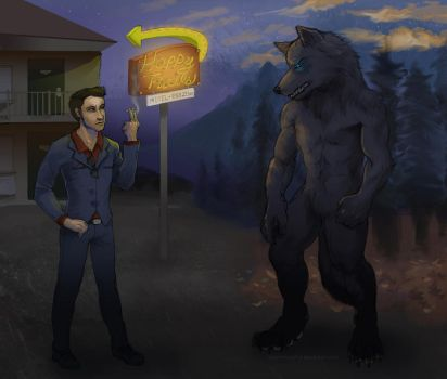 [Commission] - Jonas, two ways. by lycanthropeful