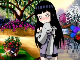 Hinata in the garden by Karola2712