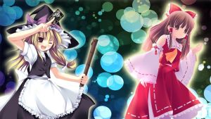Marisa and Reimu (Touhou) by For3st-NinJa
