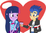 Twilight & Flash Hearts & Hooves Day 2015 by equestriaguy637