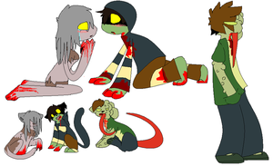 my favorite zombies by Kklobster