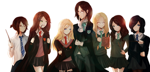 Hogwarts School- Own version by RinRinDaishi