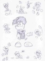 Rayman Sketches by SonicSketch