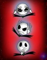 Faces of Jack Skellington by Vulture34