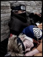 Sleepy Time- KakashiXNaruto by KazokuCosplay
