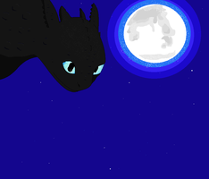 toothless the Nightfury by mariameowthecat