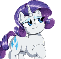 Waving Rarity Sprite by SirMasterDufel