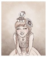 Anna with a Snowgie by Loony-Lucy