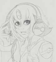 Shirina music sketch by RaeNoir
