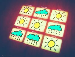 weather calendar by tomatokisses