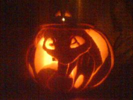 Mew Pumpkin by narcissisticdenial