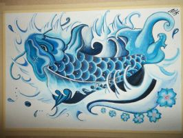 Blue Koi by yessica83