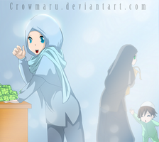 Happy Aidil Fitri by Crowmaru