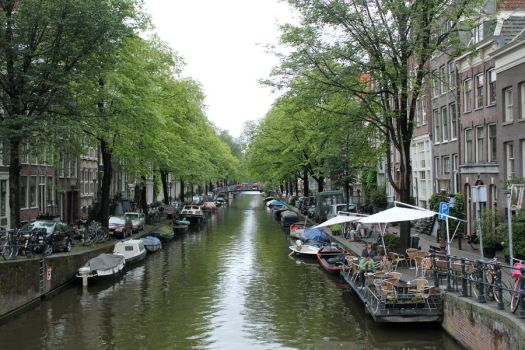 Canal in Amsterdam by ScottieDoctor