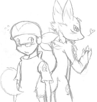 Digimon And Tamer by LarryKitty