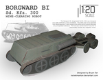 Sd. Kfz. 300 Mine Clearing Robot by RocketmanTan