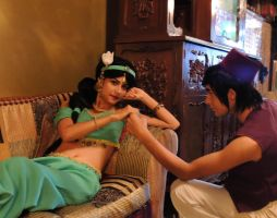 Aladdin x Jasmine - Cosplay Session 02 by Bahamut-Eternal