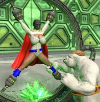 Power Girl in Peril by Chup-at-Cabra