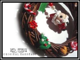 Santa Christmas Wreath, 2008 by RedFenyx
