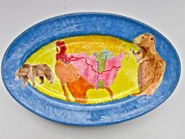 Lewis and Clark Platter by nosepace