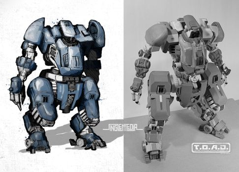 Concept Mech: TOAD Unit by singleMedia