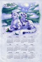 2010 Tigers Family Calendar by FreakyKitty