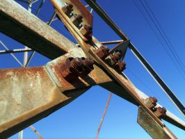 Rusted TVA Tower Bolts by Ranald101