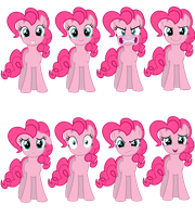 Faces of Pinkie Pie (Vectors) by Kdogfour