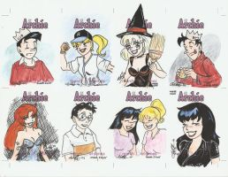 Archie Cards Set 3 by AmberStoneArt
