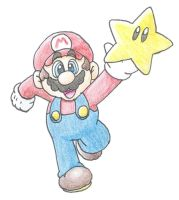 Mario's star by minimariodrawer