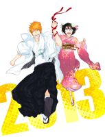 A Happy New Year,IchiRuki!! by Touya101