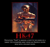 HK-47 Demotivational by Onikage108