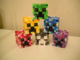 Colored Creepers Progress Have a favorite? by RetroNinNin